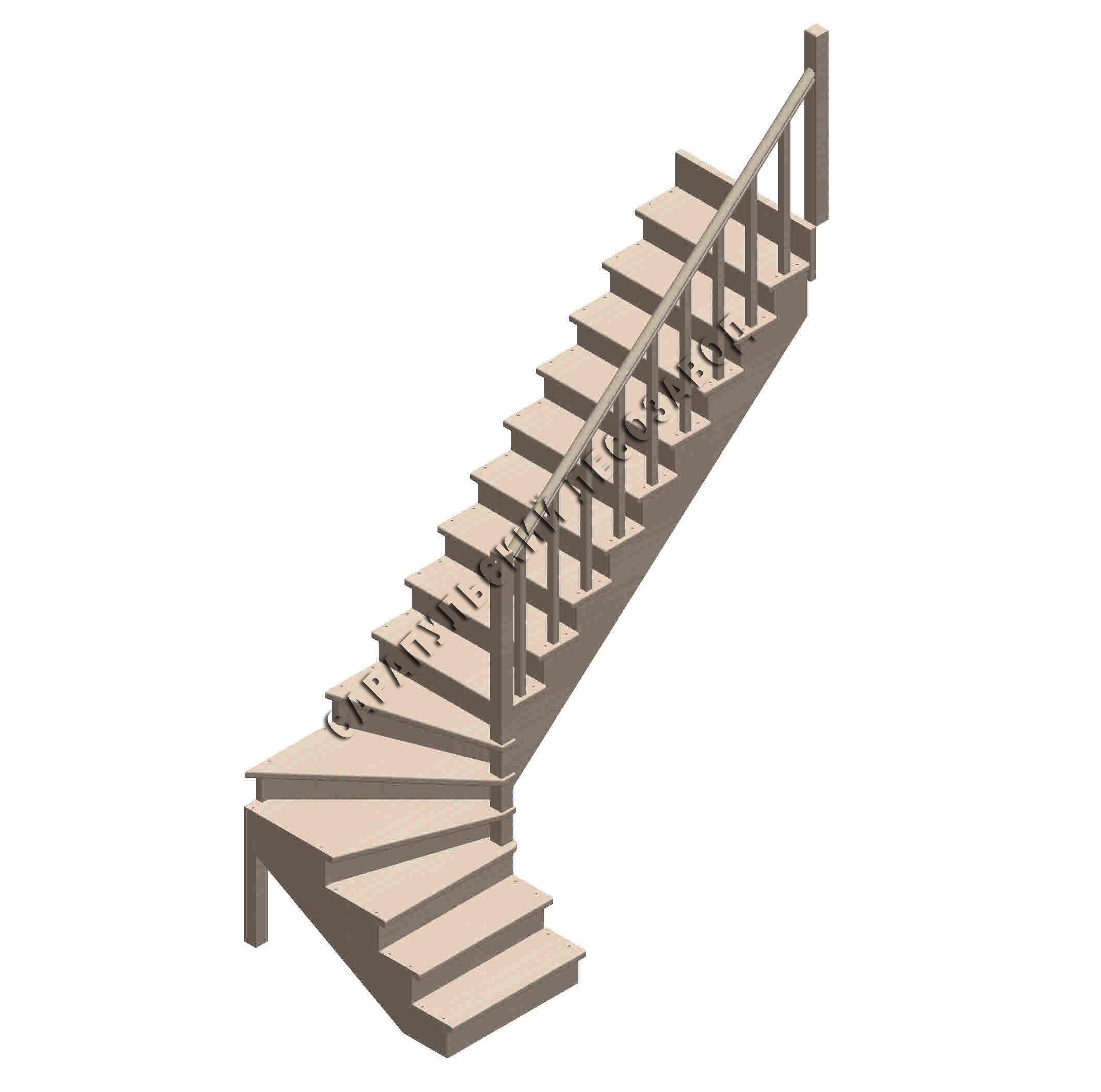 Балясина деревянная 45*45*900 №5 от компании Дары леса в