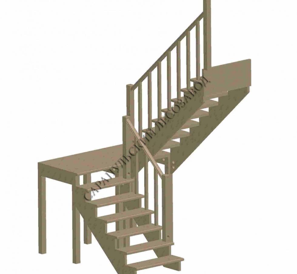 Деревянные лестницы на заказ в Калуге, заказать